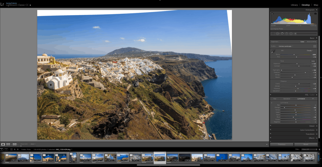 The view of Fira on the path from Imerovigli